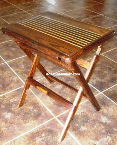 Folding table by Don S. Shoemaker