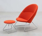 Dennie Easy Chair + Foot Stool by Nanna & Jørgen Ditzel (1956)