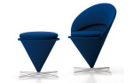 Cone Chair + Cone Stool by Verner Panton (1958)