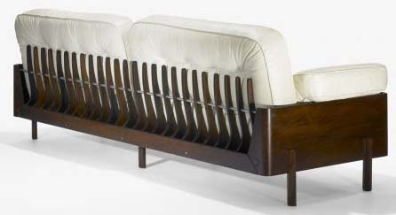 Skeleton Back Sofa by Jorge Zalszupin (1960's)