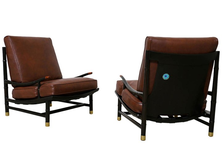 Pair of Kumoto Armchairs designed by Frank B. Kyle