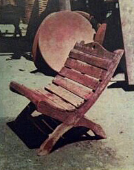 Wooden Butaque Chair from Tehuantepec