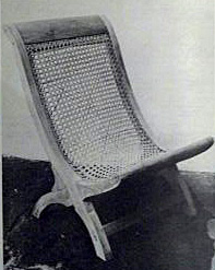Caned Butaque Chair from Veracruz (early 20th Century)