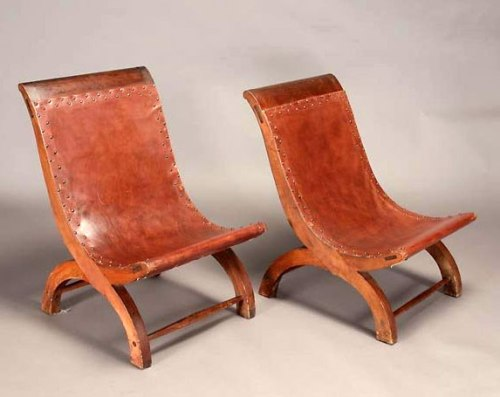 Pair of William Spratling Butaques