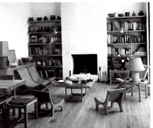 Clara Porset´s Living room with a variety of Butacas