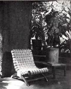 Armless Butaque version designed by Clara Porset (1956)