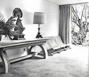 Butaca Bench by Juan Sordo Madaleno (1950's)