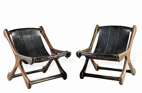 """Sling """"Sloucher"""" Chair by Don S. Shoemakeral"""