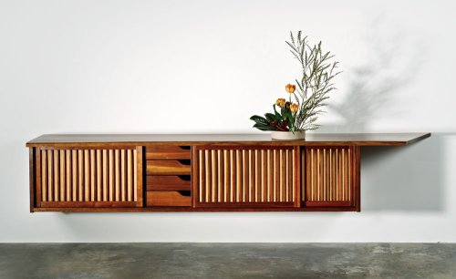 George Nakashima Hanging Wall Case with free edge (1963)
