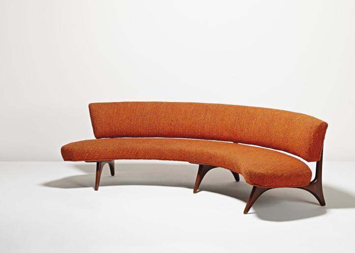 "Vladimir Kagan ""Floating Seat and Back"" Sofa (ca. 1952)"