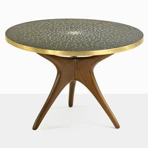 Vladimir Kagan Mosaic Trisymmetric Dining Table (1950's)