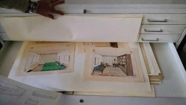 Clara Porset furniture design sketches