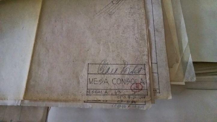 Clara Porset Archive cataloguing work