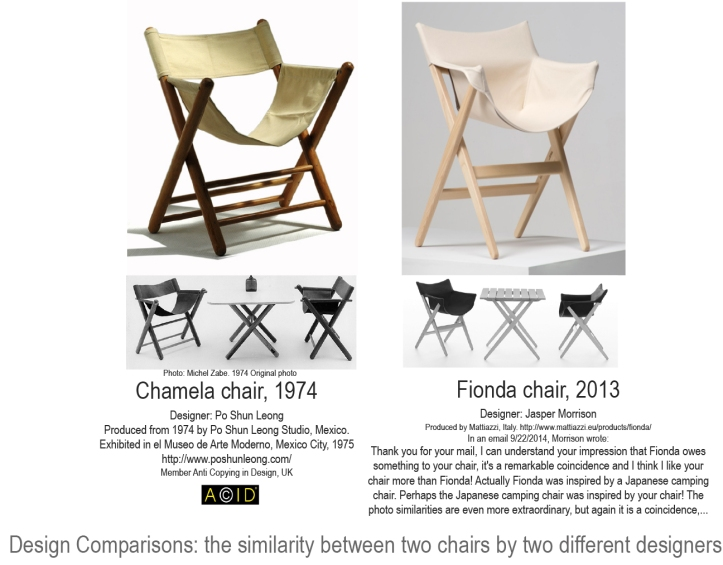 Design comparison Fionda Chair vs. Chamela Chair