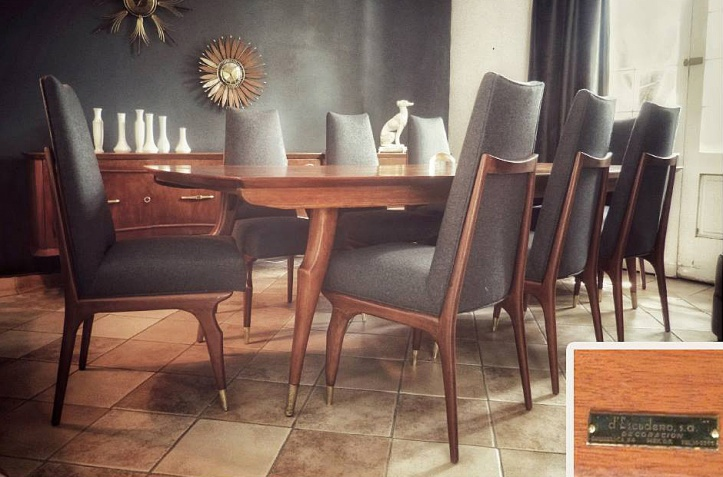 d'Escudero S.A. Dining Set by Eugenio Escudero (late 1950's)