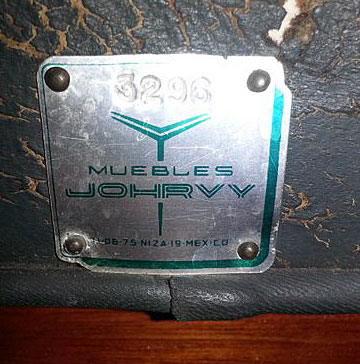 "Studio Label ""Muebles Jhorby"" (1960's)"