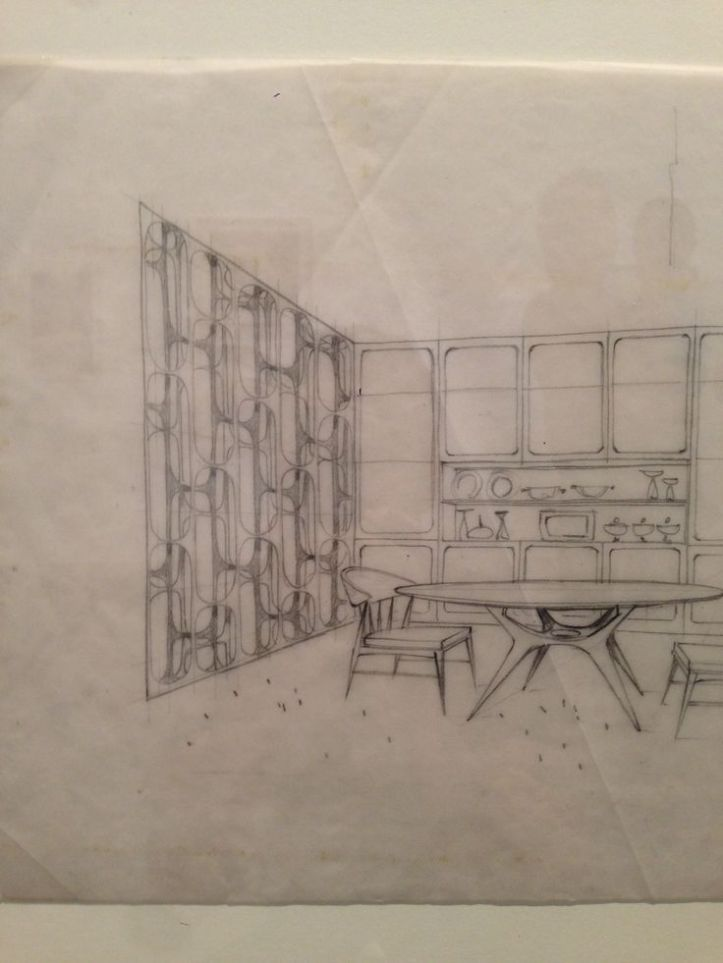 Room Divider Screen Drawing by Eugenio Escudero