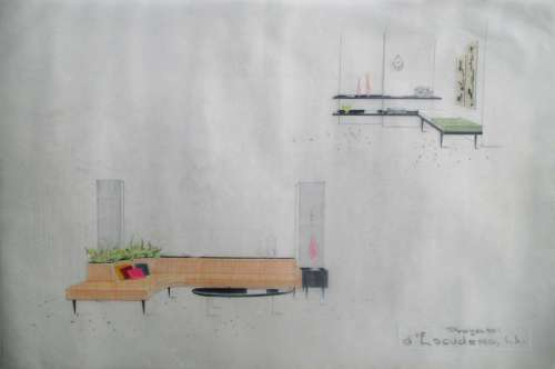 Interior Design Drawings by D'Escudero S.A. (1970's)