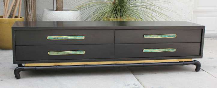 Frank Kyle Credenza with metal fittings produced at the Pepe Mendoza foundry