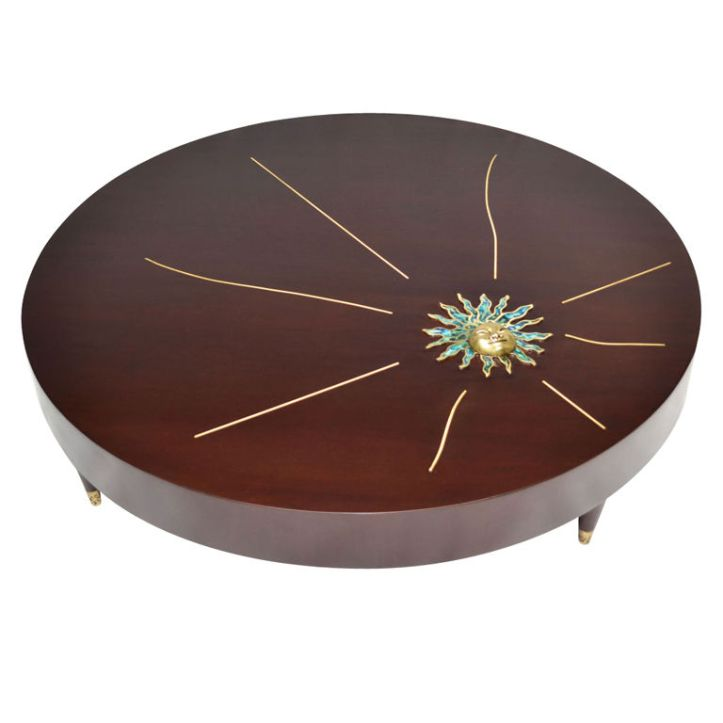 Coffee table by Frank Kyle with bronze accents from the Pepe Mendoza workshop