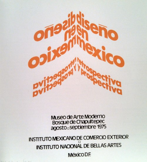 "Cover of the 1975 MAM catalog ""Exposición Retrospectiva y Prospectiva de Diseño Mexicano"""