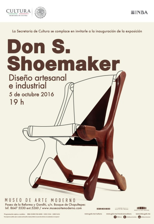 Invitation Museo de Arte Moderno to the Don S.Shoemaker exhibition (2016)
