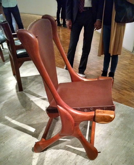 Depicted chair on the invitation - shown at the exhibition (2016)
